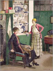 Aluminium print  In the Kitchen - Harold Harvey