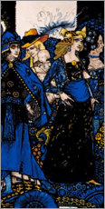 Wood print  Queens of Sheba, Meath and Connaught - Harry Clarke