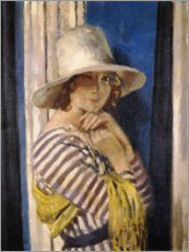 Wall sticker  Mrs Hone in a Striped Dress - Sir William Orpen