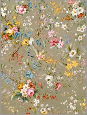Wall sticker  Floral pattern beige - William Kilburn