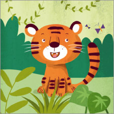 Wall sticker Little tiger