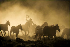 Gallery print  Cowboy on the horse ranch - Sheila Haddad