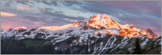 Canvas print  Mt. Baker at sunset - Gary Luhm