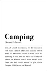 Wall sticker  Camping Definition (german) - Pulse of Art