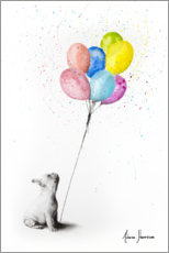 Premium poster  French bulldog with balloons - Ashvin Harrison