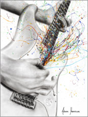 Premium poster  The Guitar Solo - Ashvin Harrison