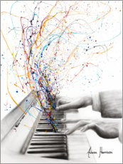 Wood print  The Keyboard Solo - Ashvin Harrison