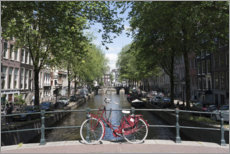 Canvas print  Red bicycle, Amsterdam - Fraser Hall