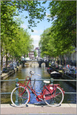 Canvas print  Red bike, Amsterdam - Fraser Hall