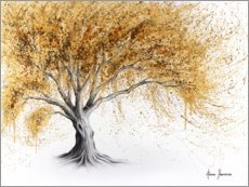 Premium poster Tree with golden luster
