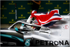 Canvas print  Lewis Hamilton, British GP 2019