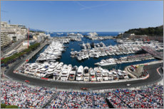 Canvas print  The Formula 1 circuit in Monte Carlo, Monaco 2017