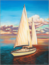 Acrylic print  Sailing turn in the morning - Carolee Vitaletti