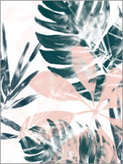 Aluminium print  Tropical Blush - June Vess