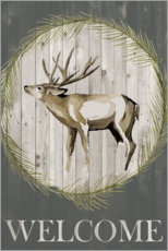 Foam board print  The stag says welcome - Grace Popp