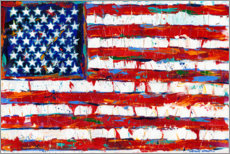 Foam board print  Stars & Stripes - Carolee Vitaletti