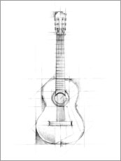 Wall sticker  Guitar Sketch - Ethan Harper
