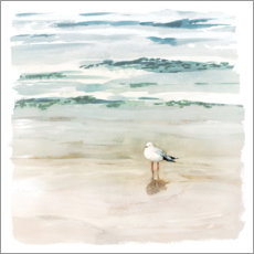 Wall sticker  Seagull on the beach II - Victoria Borges