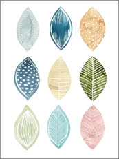 Premium poster Leaves pattern I