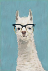 Gallery print  Lama with glasses II - Victoria Borges