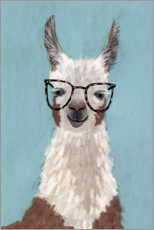 Gallery print  Lama with glasses I - Victoria Borges