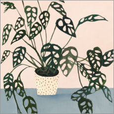 Premium poster  Little Monstera in Point Pot - Victoria Borges