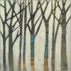 Canvas print  Birch Line I - Jennifer Goldberger