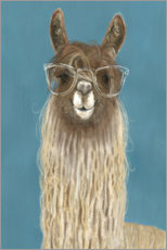 Wall sticker  Lama with glasses IV - Victoria Borges