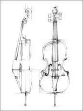 Foam board print  Cello Sketch - Ethan Harper