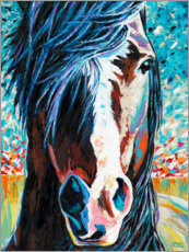 Foam board print  Wild at Heart I - Carolee Vitaletti