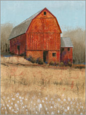 Canvas print  Red barn view - Tim O'Toole