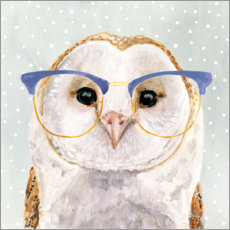 Canvas print  Owl with glasses - Victoria Borges