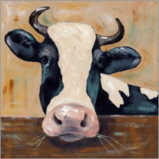Premium poster  Portrait of a cow - Jade Reynolds