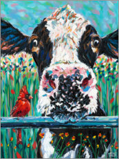 Foam board print  Farm Buddies I - Carolee Vitaletti