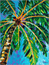 Wood print  Under the Palms I - Carolee Vitaletti