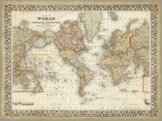 Acrylic print  Map of the world - Mitchell
