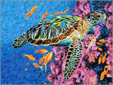 Premium poster  Under water II - Carolee Vitaletti