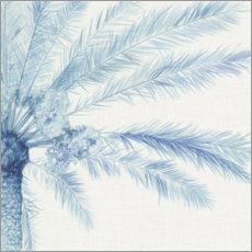 Wall sticker  Chambray Palms II - Megan Meagher