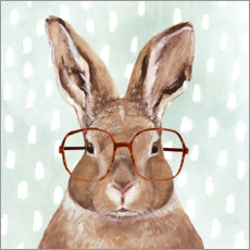 Gallery print  Bunny with glasses - Victoria Borges