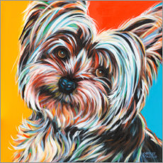Wall sticker  Sweet Yorkie II - Carolee Vitaletti