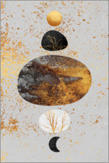 Wood print  Sun And Moon - Elisabeth Fredriksson
