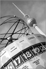 Canvas print  World clock, Berlin - Jean Schwarz