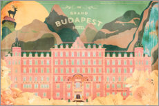 Wood print  The Grand Budapest Hotel - Ella Tjader