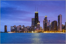Canvas print  Chicago by night - Fraser Hall