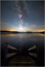 Premium poster Milky Way at Kirchsee
