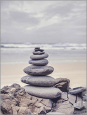 Acrylic print  Stone tower on the beach - Andrea Haase Foto