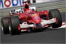 Canvas print  Michael Schumacher, Ferrari F2005, Hungary 2005