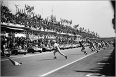 Wood print  Start of the 24 Hours of Le Mans race, 1963