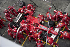 Canvas print  Michael Schumacher, pitstop Ferrari 248 F1, Chinese GP 2006