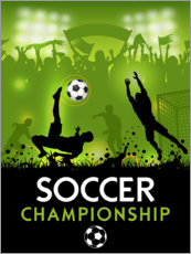 Acrylic print  Soccer Championship Poster - TAlex